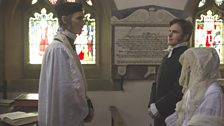 Arthur and Charlotte are blessed by the Minister – The Rev. Sutcliffe Sowden