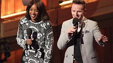 Presenters of the BBC Young Musician 2016 Jazz Award Final Josie d'Arby and Joe Stilgoe