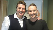 Kevin Simm poses with Michael Ball