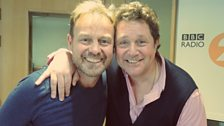 Jason Donovan poses with Michael Ball before performing!