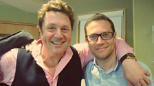 John Wilson poses with Michael Ball