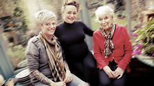 Jack Monroe with Jaime Winstone and June Whitfield