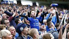 Fans celebrating at full-time