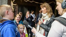 Lucy Cooke interviewing