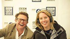 Stefan Gates with BBC Radio Bristol's Laura Rawlings