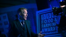 Adam Henson presents to the camera during the ceremony