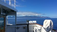 Approach to  St Helena Island on RMS St Helena
