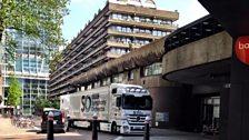 The BBC Symphony Orchestra van arrives at the Barbican Centre!