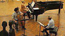 Sheku Kanneh-Mason rehearses with Mark Wigglesworth and pianist Kate Golla