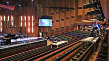The Barbican Hall is almost ready for the concert! Just a few finishing touches needed - including building a desk for the jury