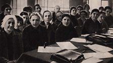 Unknown - Nadezhda Krupskaia and Clara Zetkin attending the Presidium of the III All-Russian conference on pre-school education