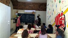 The new childrens' education centre with Syrian refugee teachers