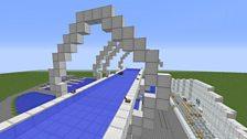 Falkirk Wheel in Minecraft
