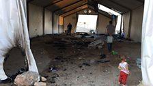 Souda Camp after a recent fire