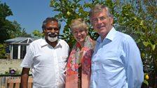 Stan Thekaekara with Phillida and Christopher Purvis