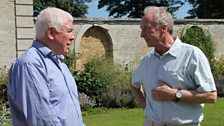 Sean Rafferty and the Duke of Buccleuch in the grounds of Boughton House.