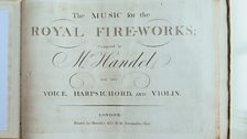 An original score of the Music for the Royal Fireworks.