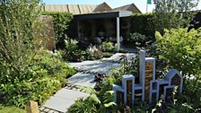 Urban Glade - built by Matthew Beesley, planting by Katie Maude