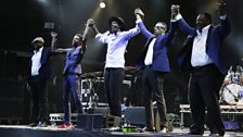 """This is not 'world music'...This is our music,"" Baloji (centre) said"