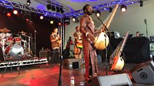 Senegalese kora player Diabel Cissokho was one of the many artists playing at BBC Radio 3's Charlie Gillett stage