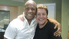 Shaun Escoferry poses with Michael Ball