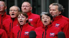 Singers from the Games Maker Choir...
