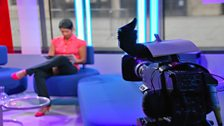 Naga Munchetty in studio...