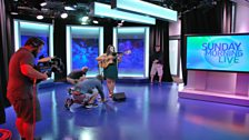Kelly Oliver rehearses...
