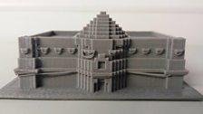 The Mitchell Library in Glasgow, printed in 3D