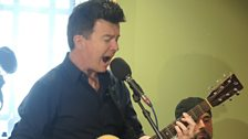 Rick Astley belts out the tunes