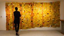 Serge Attukwei Clottey My Mother's Wardrobe installation view at Gallery 1957 Accra