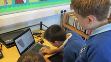 Pupils at Linlithgow Primary School hard at work on Build it Scotland