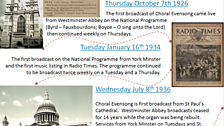 1) Choral Evensong history