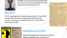 3) Choral Evensong history