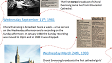 4) Choral Evensong history