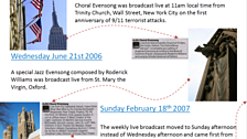 5) Choral Evensong history