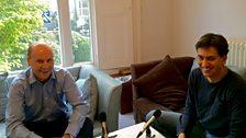 Ed Miliband talks to George Parker