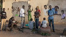 Ana Taban use graffiti, theatre, sculpture and poetry to spread their message
