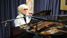 Petula Clark at the Elton John grand piano