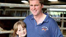 Robert Wilson and daughter Lottie of Cowbog Farm