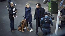 Martin Freeman, Amanda Abbington & Benedict Cumberbatch on location