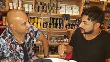 Bobby Friction with his friend Huck