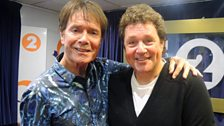 Cliff Richard in session for The Michael Ball Show