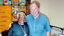 The Most Reverend Desmond Tutu with producer Stephen Shipley