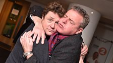 Suggs and Michael Ball share a photo together