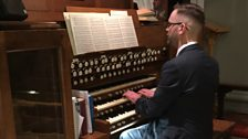 2016 Banbury Celebration of Christmas organist Kieron Galliard