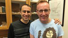 Bryan Burnett and palaeontologist Dr Steve Brusatte.