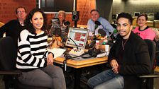 Presenters and Guests in the Studio