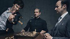 Sherlock Holmes, John Watson & Mycroft Holmes