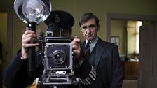 Stephen McGann on set as Doctor Turner
